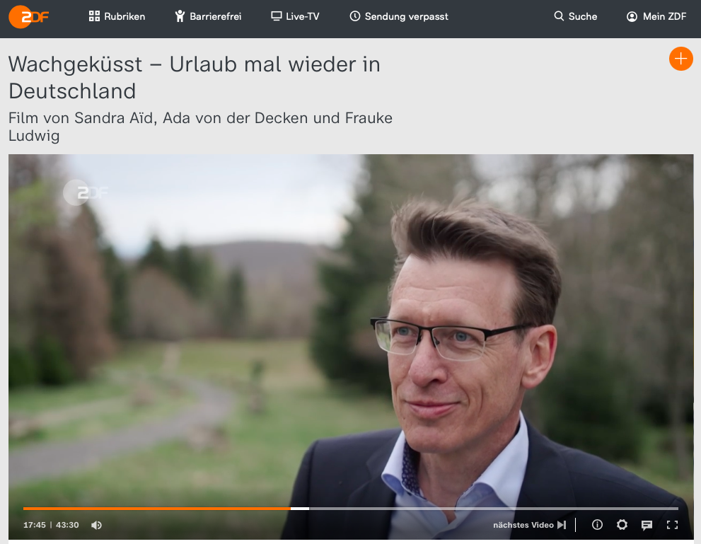 ZDF Dokumentation Harald Zeiss Inatour