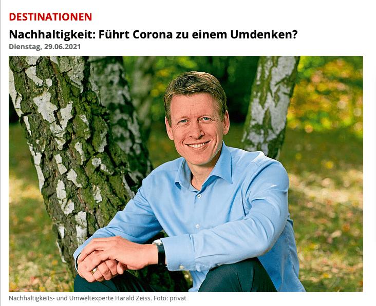 Harald Zeiss Nachhaltigkeit Touristik Aktuell